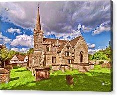 St Cyriac Church Lacock Acrylic Print