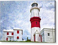 Acrylic Print featuring the photograph St. David's Lighthouse by Verena Matthew