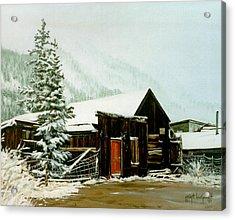 Acrylic Print featuring the painting St Elmo Snow by Craig T Burgwardt
