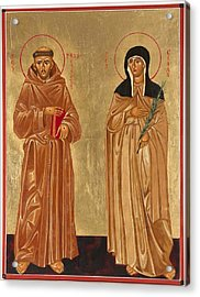 St. Francis Of Assisi And St. Clare Acrylic Print by Joseph Malham