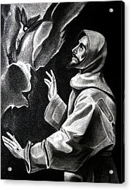 St Francis Of Assisi Acrylic Print by Enrique Garcia