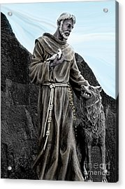 St Francis Of Assisi On Isabela In The Galapagos Acrylic Print
