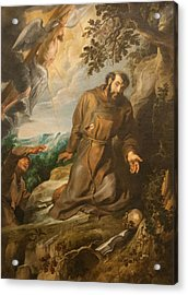 St. Francis Of Assisi Receiving The Stigmata Acrylic Print by Peter Paul Rubens