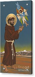 Acrylic Print featuring the painting St. Francis Patron Of Colorado 186 by William Hart McNichols