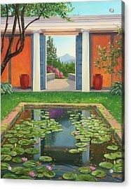 Saint-gaudens Water Lily Pond, Cornish, Nh Acrylic Print by Elaine Farmer