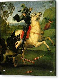 St George And Dragon Reproduction Art Work Acrylic Print