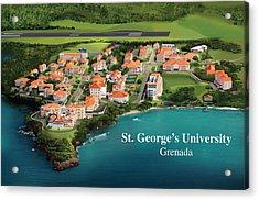 St. George's University Acrylic Print by Rhett and Sherry  Erb