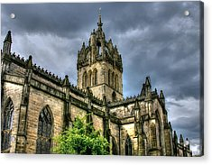 St Giles And Tree Acrylic Print