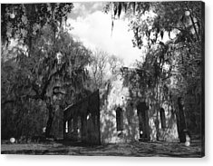 St Helena Chapel Of Ease Bw 2 Acrylic Print by Steven  Taylor