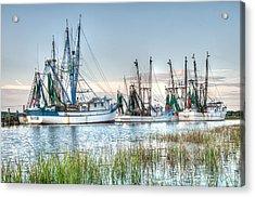 St. Helena Island Shrimp Boats Acrylic Print