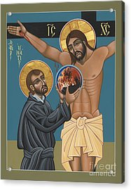 Acrylic Print featuring the painting St. Ignatius And The Passion Of The World In The 21st Century 194 by William Hart McNichols