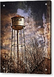 St. Jacob Water Tower 2 Acrylic Print by Marty Koch