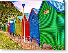 St James Beach Houses From Behind Acrylic Print by Cliff C Morris Jr