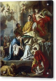 Saint Januarius Visited In Prison By Proculus And Sosius Acrylic Print