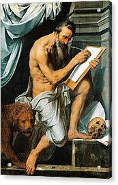 St. Jerome Acrylic Print by Willem Key