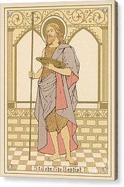 St John The Baptist Acrylic Print by English School