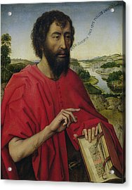 St John The Baptist, Left Hand Panel Of The Triptych Of The Braque Family Acrylic Print