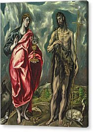 St John The Evangelist And St John The Baptist Acrylic Print