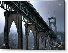 St Johns Bridge Oregon Acrylic Print