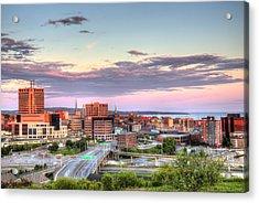 St. John's New Brunswick Sunset Skyline Acrylic Print by Shawn Everhart