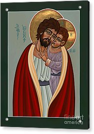 Acrylic Print featuring the painting St. Joseph And The Holy Child 239 by William Hart McNichols