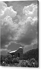 St Joseph Church Mescalero New Mexico Acrylic Print by Mark Goebel