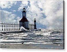 St Joseph Lighthouse Acrylic Print by Cheryl Cencich