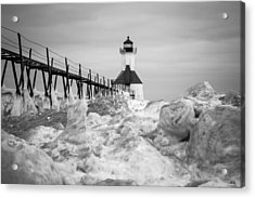 St. Joseph Lighthouse In Ice Field Acrylic Print