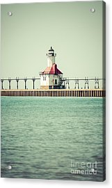 St. Joseph Lighthouse Vintage Picture  Acrylic Print by Paul Velgos