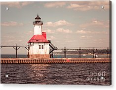 St. Joseph Lighthouse Vintage Picture  Photo Acrylic Print by Paul Velgos