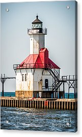 St. Joseph Michigan Lighthouse Picture  Acrylic Print by Paul Velgos