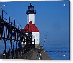 St Joseph North Point Lighthouse Acrylic Print by Rose Clark