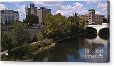 St. Joseph River Panorama Acrylic Print by Anna Lisa Yoder