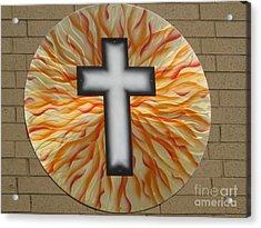 St. Josephs Cross Acrylic Print by Rick Roth