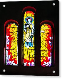 St. Joseph's Stained Glass Acrylic Print