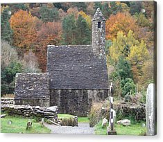 Acrylic Print featuring the photograph St Kevin's Glendalough Ireland by Alan Lakin