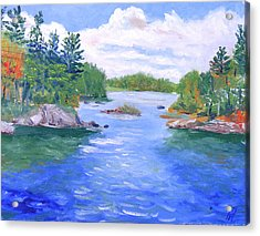 St Lawrence River-view From Waterson State Park Acrylic Print by Robert P Hedden