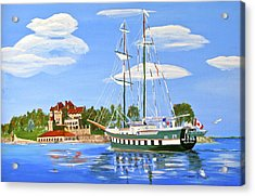 Acrylic Print featuring the painting St Lawrence Waterway 1000 Islands by Phyllis Kaltenbach