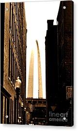 St. Louis Arch Through Buildings Acrylic Print
