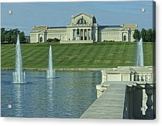 St Louis Art Museum And Grand Basin Acrylic Print