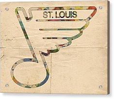 St Louis Blues Hockey Poster Acrylic Print