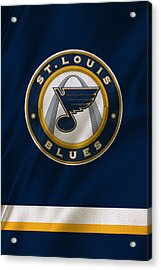 St Louis Blues Uniform Acrylic Print by Joe Hamilton