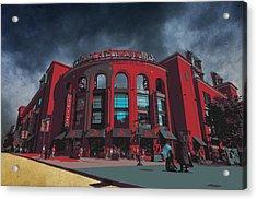 St. Louis Busch Stadium Cardinals 9162 Art Acrylic Print