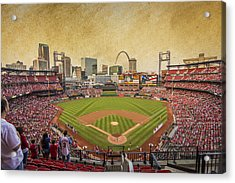 St. Louis Cardinals Busch Stadium Texture 9252 Acrylic Print