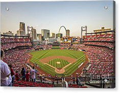 St. Louis Cardinals National Anthem Acrylic Print by David Haskett