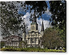 St. Louis Cathedral Acrylic Print by Judy Vincent