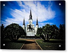 Acrylic Print featuring the photograph St Louis Cathedral In Jackson Square by Ray Devlin