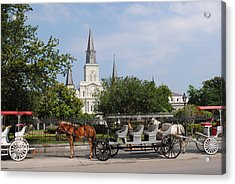 Acrylic Print featuring the photograph St Louis Cathedral by Robert  Moss