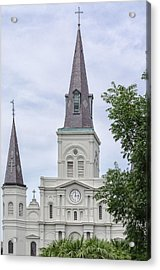 St. Louis Cathedral Through Trees Acrylic Print