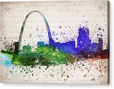 St Louis In Color Acrylic Print by Aged Pixel